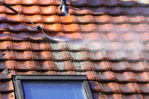 Demoussage d'une toiture